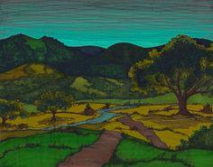 texa hill, draw print, print 11, autumn texa, texas hill country