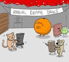 Annual Rhyme Dance - poor orange! the doors, cat, ball, eminem, funni, humor, oranges, dance, poor orang