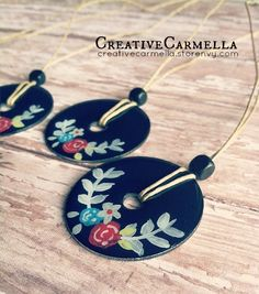 Creative Carmella ~ Hand painted necklace ~