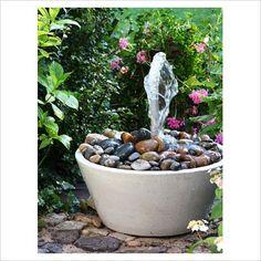 diy: garden fountain in a pot...