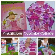 Pinkalicious Cupcake Collage - free printable cupcake