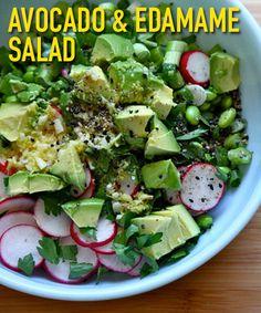 Avocado and Edamame Salad
