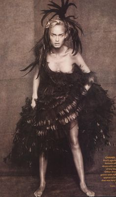 """""""Tribal chic"""" with #American #model Amber Valletta by Paolo Roversi"""