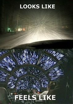 Winter driving... It can be fun, but make sure you are aware and prepared! geek, thoughts, winter, stars, funni, snow, star wars, storm, true stories