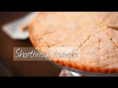 Shortbread triangles with petticoat tails. You'll love this classic recipe!