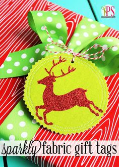Easy Fabric Gift Tag Tutorial - Also make great #Christmas ornaments! #tulipshimmer