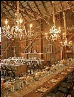 wedding receptions, barn reception, dream, barn weddings, barn parties, rustic weddings, mason jars, long tables, rustic elegance
