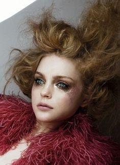 messy makeup and hair