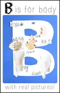 Use real pictures of your child to create this silly alphabet craft!