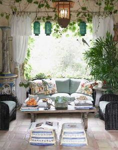 Mediterranean Style + great natural light = a room we'd never leave!