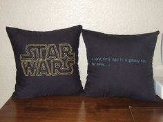 embroidered pillows and a whole entire blog of star wars craftiness