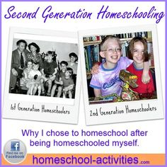 A second generation homeschooler shares her experiences.  Sign up for my free second generation #homeschooling serial and get some living proof that teaching your child at home is the best decision you ever made. www.homeschool-activities.com/second-generation-homeschooling.html