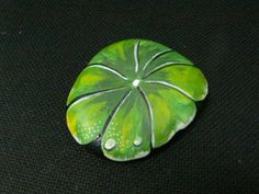 Rockpainting - Lily Pad 0003