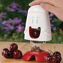 This thing is so awesome; the kiddos can use it to pit their own cherries. I need to buy another one so they won't fight over it!
