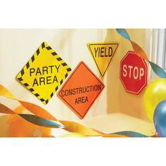 traffic signs for construction party