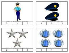 Police Count & Clip Cards *Common Core Aligned*