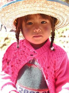 """little girl in Peru , Henry Ward Beecher,  """"Children are the hands by which we take hold of heaven."""""""