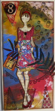 Julie Nutting..Prima Doll Stamp by Carol Anderson