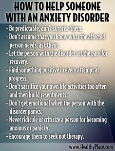 How to Help Someone with Anxiety Disorder