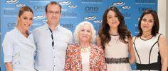 Oris con la fundación Respiralia En la presentación del reportaje 'Respirando a brazadas' estuvo presente Adriana Ugarte, imagen de la marca.