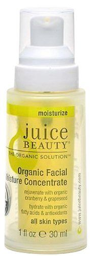 Juice Beauty Juice Beauty Organic Facial Moisture Concentrate by Juice Beauty. $35.60. Rejuvenate and hydrate your skin with this antioxidant rich concentrate.. Since your skin absorbs what you put on it, why not use the best? Juice Beauty Organic Facial Moisture Concentrate delivers lightweight, nourishing hydration to your skin with a myriad of soothing, organic oils and botanical extracts that both heal and protect your skin from damage....