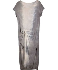 Grey Gathered Side Dress