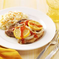 Lemon Pork Chops Crock Pot Recipe