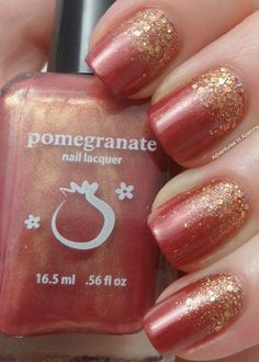 Pomegranate Lacquer Autumnesque beauty tips, nail polish, new apartment, wedding nails, color, polish nails, aceton, glitter nails, nail arts