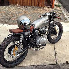 Honda CB motorcycl, helmet