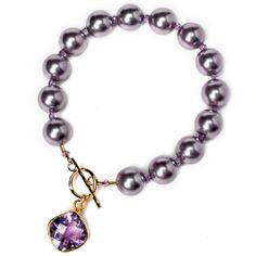 """February birthstone: Amethyst bracelet"" downloadable project from Bead Style magazine. BeadStyleMag.com"