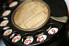macro vintage telephone