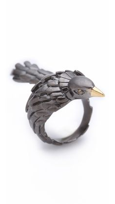 Elizabeth and James Meadowlark Bird Bypass Ring