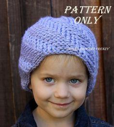 Preschooler Boy Hat Crochet Pattern Size 3 by olgascrochetfrenzy, $3.25