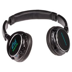 PL-4268  Bluetooth® Stereo Headphones/FM Radio. Plastic stereo over-the-ears headphones with padded headband and adjustable padded ear cups. Lets you listen to music through your mobile device using wireless Bluetooth® technology from up to 10m away. Also play MP3 files though TF card or listen to built-in FM scan radio. Includes rechargeable lithium-ion battery that charges through USB port. Recharging cable included. Plays for 7 to 8 hours on a 2 hour charge.