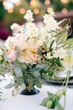 eucalyptus centerpiece, pink centerpiec, peach, floral designs, flower, blush