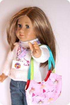 . doll clothes, girl doll, purs tutori, ag doll, purs beauti, doll purs, purses, purse patterns, american girls