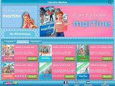 Martine (developed by Casterman): beloved stories of a French girl; one story free (the rest available as in-app purchases); trilingual (French, English, Dutch); recommended by Delphine