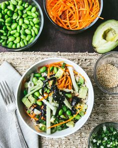 vegetable sushi bowl. gluten free!