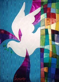 Peace Dove II by Lynne Farrow - First Presbyterian Church - Santa Barbara - CA