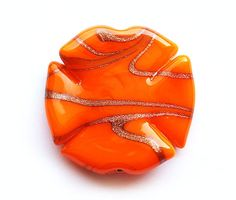 Large pendant bead Czech glass lampwork focal Bright by MayaHoney