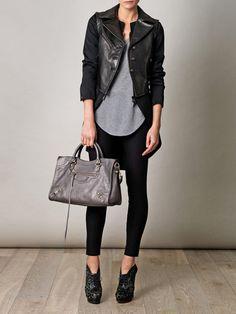 Rag & Bone tailcoat + Alaia boots +Balenciaga bag