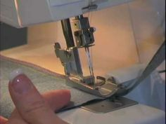 Basic Serging: Tips and Tricks! Just got me a new serger and love the little tips on serging and cutting a pre-sewn seam, or just serging the edge of fabric before sewing.