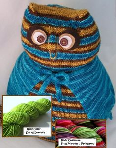Owl  Nice Hooters  Knitted Toy KIT  Includes Yarn  by PippsPurses, $35.00