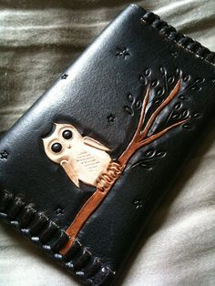 Leather Owl Card Case