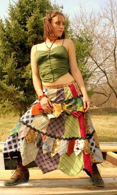 folk skirt from mens neckties!