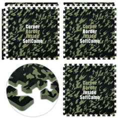 Floor Pad, SoftCamo, Hunter Green, 14' x 30' Set, Total Sq. Ft.:420 by Alessco. $941.98. Manufactured to the Highest Quality Available.. Great Gift Idea.. Design is stylish and innovative. Satisfaction Ensured.. Floor Pad, Softcamo, Hunter Green, 14' x 30' Set, Total Sq. Ft.:420Camouflage design with the comfort of SoftFloors Lightweight WaterProof OdorProof. Components: Corner: 0, Border: 0, Inside: 105 Packaging information: Total Pieces: 105, Total Cartons: 5, Full Cartons (25...