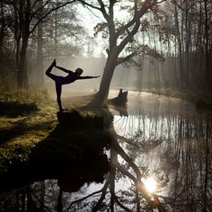 water, dance poses, yoga poses, peaceful places, namaste, forest, daily motivation, mother nature, river