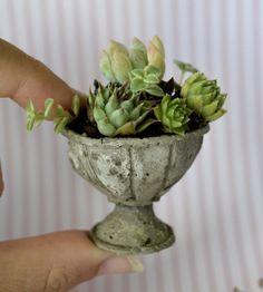 Miniature Urn, Pot, Bench and Garden Table for Doll house, fairy garden, DIY Tutorial PDF. $3.99, via Etsy.