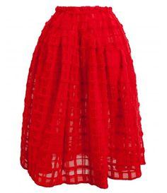 Browns Fashion - SIMONE ROCHA Mohair Check Flared Skirt