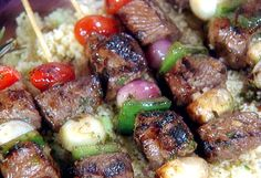 Lamb Kabob with Mint Pesto Recipe : Food Network - FoodNetwork.com